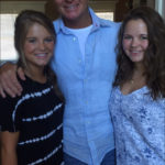 Monty with his two daughters