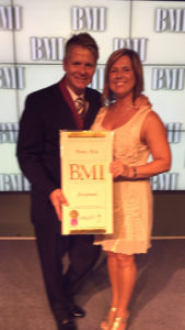 Monty Lane Allen with wife, Stacy Allen at the BMI Songwriter Awards evening